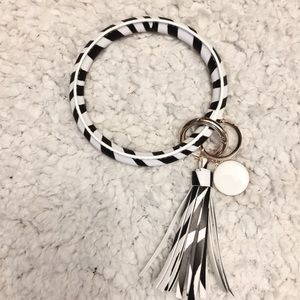 Accessories - Keychain- Animal Print- Tassel